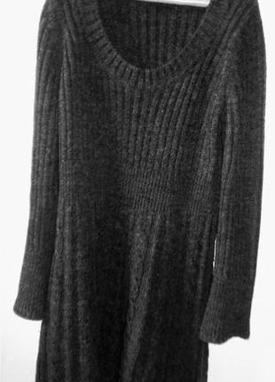 Шерстяное теплое платье, вязаное косами от итальянской  фирмы next