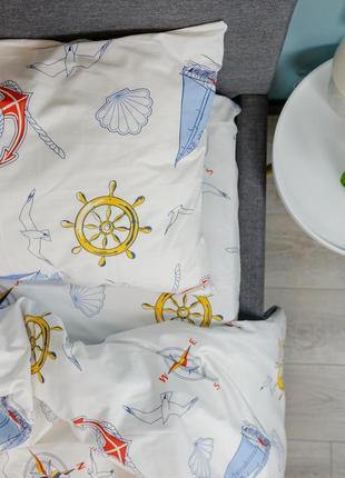 """Детский комплект постельного белья из ранфорса """"море"""", 100% хлопок, шана-текстиль"""