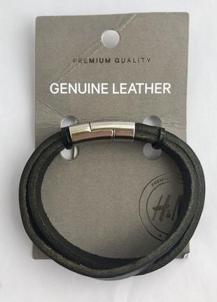 Двойной кожаный браслет h&m premium quality !
