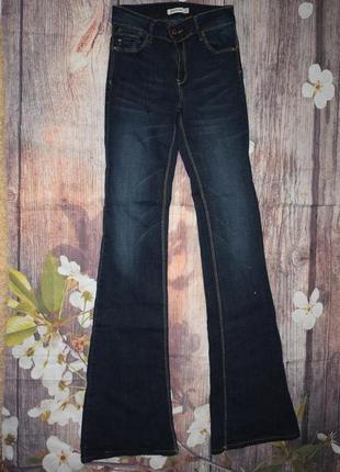 Новые джинсы клеш с завышенной посадкой