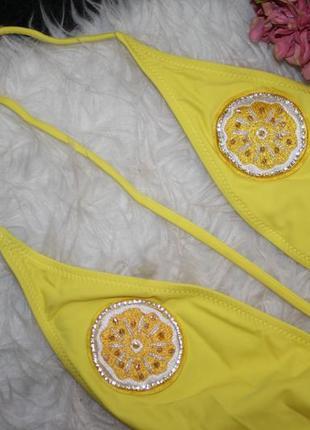Трендовый откровенный купальник с лимонами3 фото
