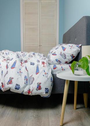 """Детский комплект постельного белья из ранфорса """"игрушки"""", 100% хлопок, шана-текстиль"""