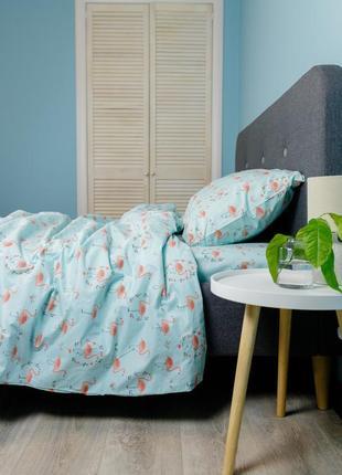 """Детский комплект постельного белья из ранфорса """"фламинго"""", 100% хлопок, шана-текстиль"""