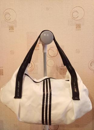 Складная женская спортивная белая сумка
