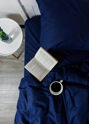 """Евро комплект постельного белья из ранфорса """"сапфир"""", 100% хлопок, шана-текстиль"""
