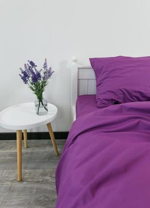 """Евро комплект постельного белья из ранфорса """"пурпур"""", 100% хлопок, шана-текстиль"""