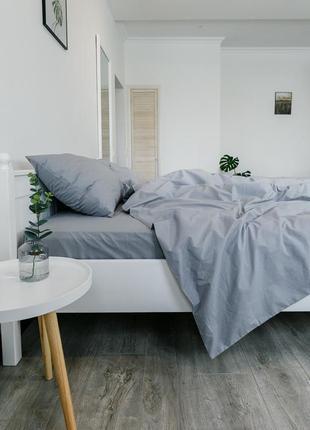 """Евро комплект постельного белья из ранфорса """"пепел"""",100% хлопок, шана-текстиль"""