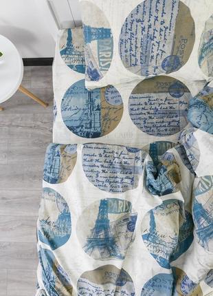 """Полуторный комплект постельного белья из ранфорса """"открытка"""", 100% хлопок, шана-текстиль"""