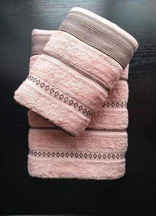 Набор махровых полотенец 70х140 + 50х90