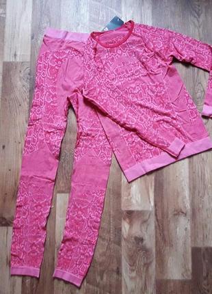 Термокостюм подростковый розовый размер 146-152, 38-50 ю