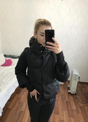 Тёплая куртка пух перо чёрного цвета twinset twin-set