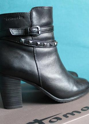 Tamaris ботинки ботильоны ботильены кожаные
