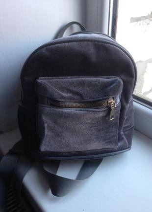 Велюровий рюкзак