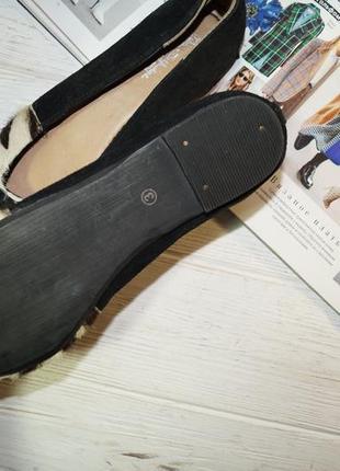 Miss selfridge! замша! стильные туфли, балетки в анималистический принт5