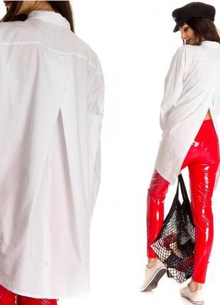 Рубашка y.two белого цвета с поговицами на спине (италия)