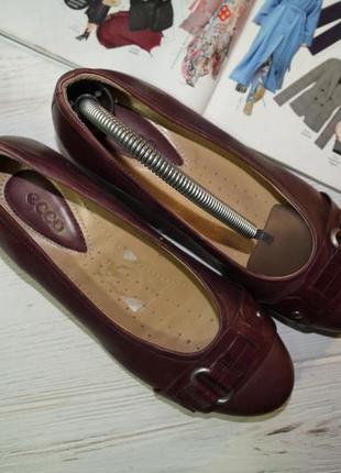 Ecco! кожа! комфортные качественные туфли на низком ходу3