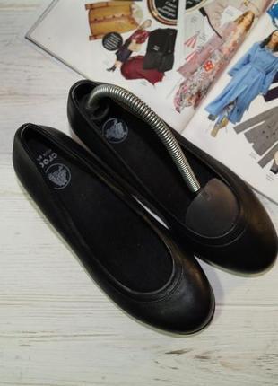 Crocs! кожа! фирменные туфли на удобном каблучке5