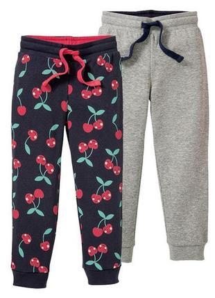 Спортивные штаны, брюки lupilu, германия, 86-92, 98-104, 110-116 набор 2 шт.