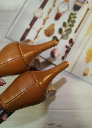 Pier one! кожа! красивые базовые туфли на удобном каблуке высокого качества4
