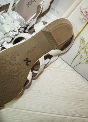 Gabor! кожа! красивые фирменные босоножки на удобном каблучке4