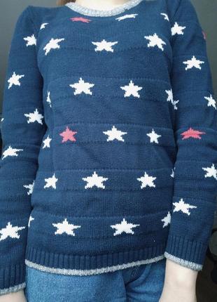 Теплый свитер в звезды