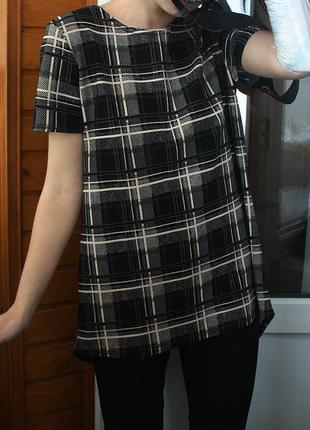 Обалденная футболка в клетку boohoo (блуза)