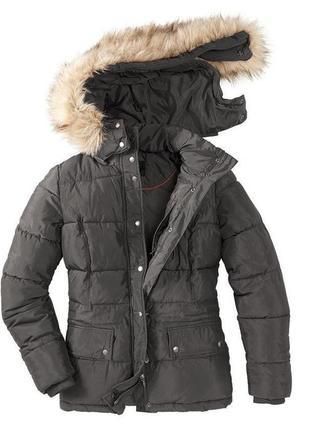 Теплая демисезонная куртка, парка от tcm tchibo, германия, р-р 38 европейский (наш 44)