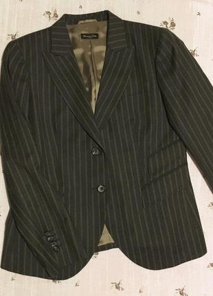 Новый шерстяной пиджак-блейзер massimo dutti