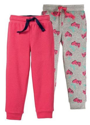 Спортивные штаны, брюки lupilu, германия, 86-92, 98-104,110-116 набор 2 шт.