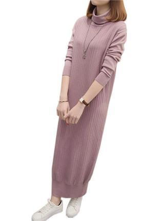 Теплое и красивое платье-кокон длины миди размер s-m
