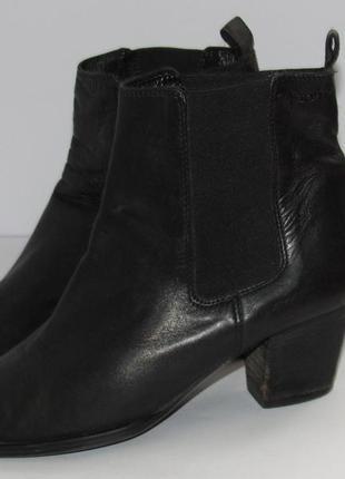 5303e65d Marko polo италия кожаные женские ботинки-челси 37р ст.24см m321 фото ...