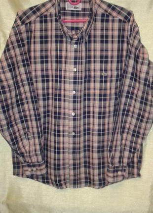 Шикарная рубашка в клетку lacoste