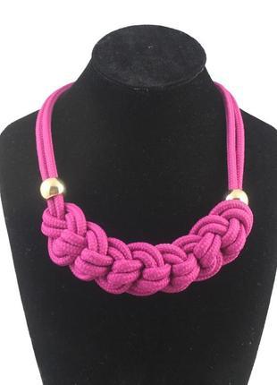 4-88 плетеное ожерелье из веревки оригинальная бижутерия