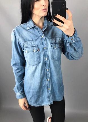 Джинсовая рубашка джинс винтаж levis