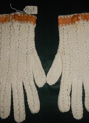 Перчатки 100% хлопок р.м(6,5) ручная работа италия
