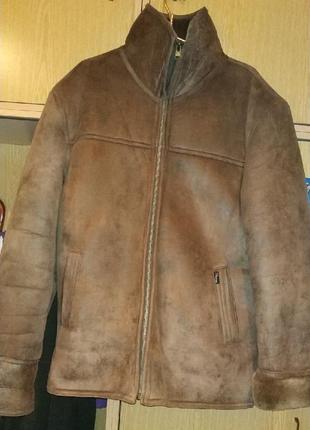 Мужская дубленка из искусственного меха р.3xl 450 грн