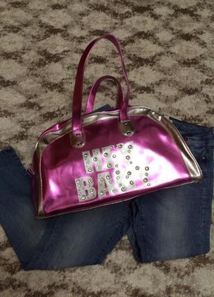 Фирменная лаковая спортивная сумка terranova,большая сумка,сумочка+подарок