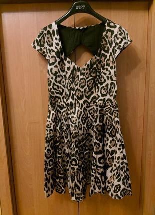 Платье с красивой спинкой, леопардик 🐅🐯