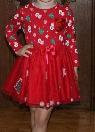 Нарядное новогоднее платье с фатиновой юбкой f&f