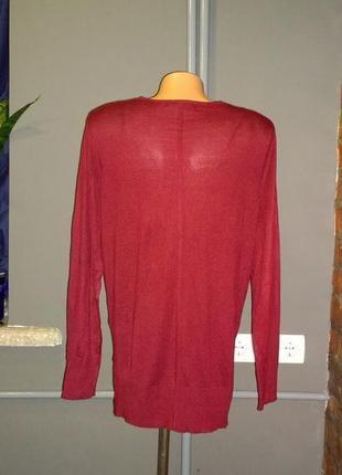 Пуловер джемпер кофточка цвета бордо next2 фото