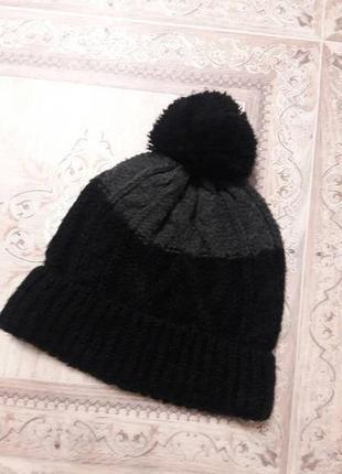 Теплая вязаная шапочка фирмы h&m 2-4 года