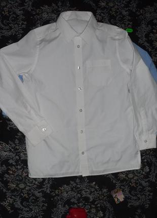 Рубашка белая 9-10 лет