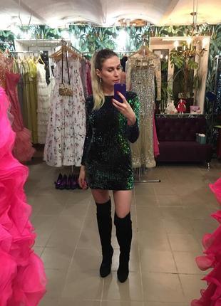 Платье велюр паетки блестящее обмен в стиле jovani sherri hill