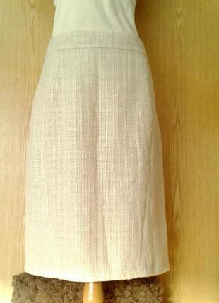 Красивая юбка грубого плетения молочного цвета, 3xl.