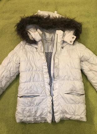 Зимняя куртка wojcik, зимняя куртка для девочки, белая зимняя куртка для девочки