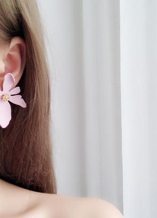 Серьги цветочек сережки цветок3 фото