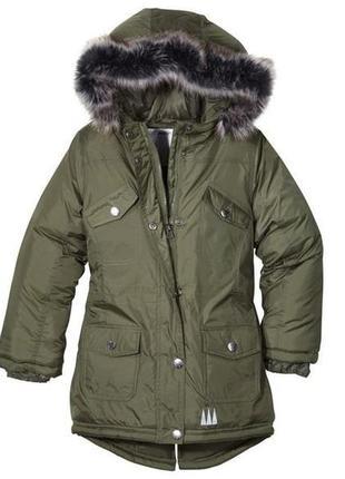 Стильная,актуальная утепленная парка,куртка,демисезон, для девочки.германия