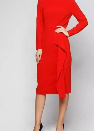 Шикарное алое платье - футляр h&m.