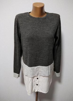 Джемпер с рубашкой 2 в 1 / горячая цена/ скидки!