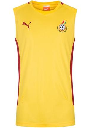 Оригинал майка мужская футбольная для тренировок жёлтая puma размер м, l
